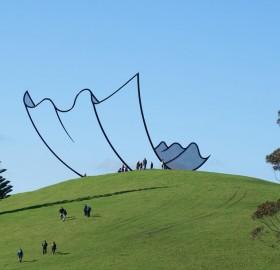 sculpture that looks like a cartoon, new zealand