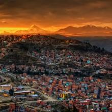 sunset in la paz, bolivia