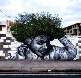 when graffiti meets nature