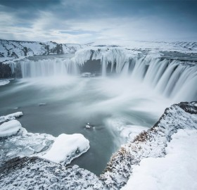 godafoss, waterfall of the gods, iceland