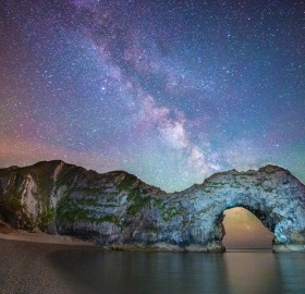 milky way above durdle door