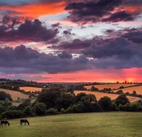 red sky of ireland