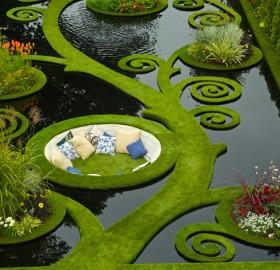 summer garden, new zealand