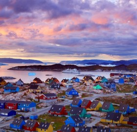 colorful houses of greenland