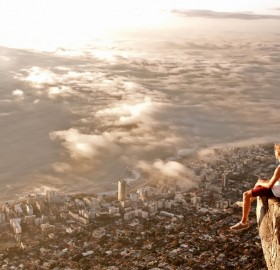 a view from the lions head on cape town