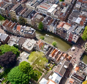 aerial view of utrecht, holland