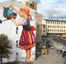amazing mural in poland