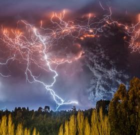 caulle volcano erupting, chile