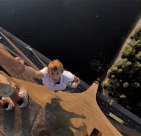 hanging at 380 feet