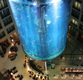 huge hotel lobby aquarium, germany