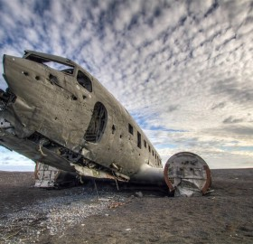the lost airplane, iceland