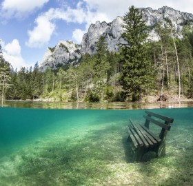 the park that disappears under water