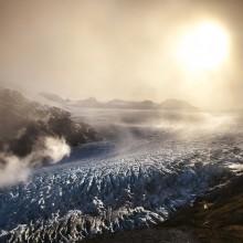 glacier after 3 weeks of rain