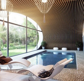 intimate indoor pool