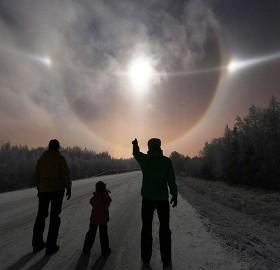 lunar halo sky phenomena, finland