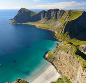 vaeroy coast, norway