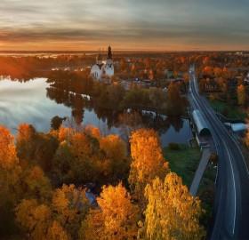 autumn in saint petersburg, russia