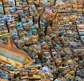 city in sahara desert, m`zab, algeria