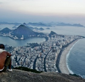 view from the mountain vidigal in rio de janeiro