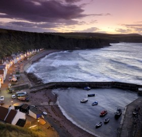 village on the coast, pennan, scotland