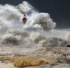 stormy sea, portugal