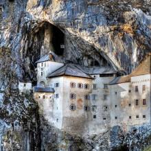castle within a cave, predjamski grad, slovenia