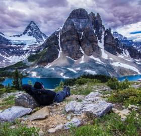 chilling at assiniboine provincial park, canada