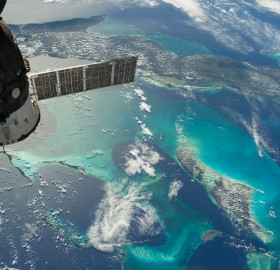 cuba and the bahamas taken from space