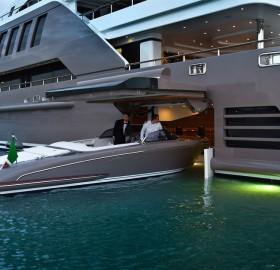 garage door on a luxury yacht
