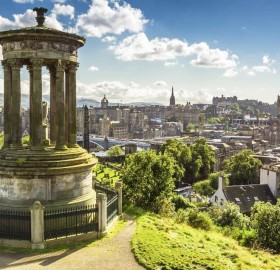a view on edinburgh, scotland