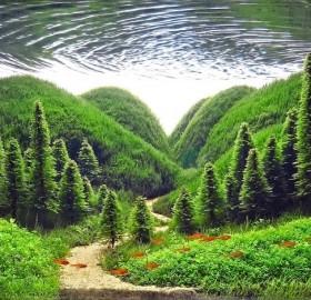 forest inside aquarium