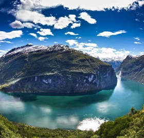 the geirangerfjord panorama, norway