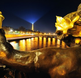 a view from pont alexandre III, paris