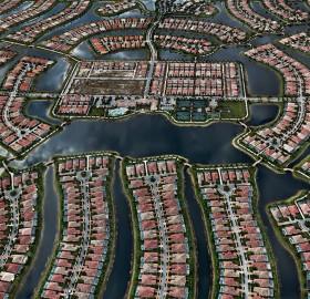 aerial view of verona walk, naples, florida