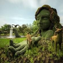 beautiful garden sculptures in montreal