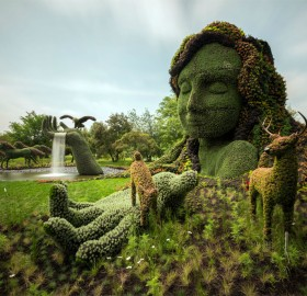 beautiful garden sculptures in montreal