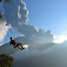 end of the world swing in banos, ecuador