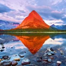 mount grinnell glacier, national park montana