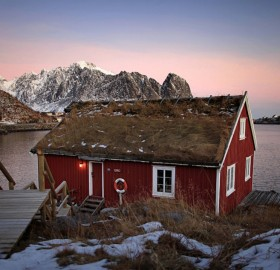 typical lofoten house, norway