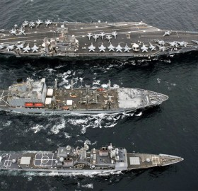 USS abraham lincoln aircraft carrier with fleet