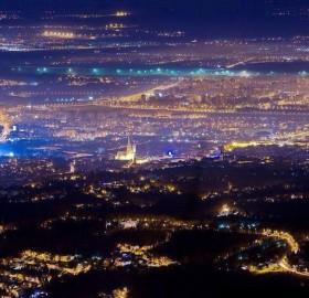 city of zagreb at night, croatia