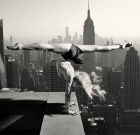 dancing on top of the new york city
