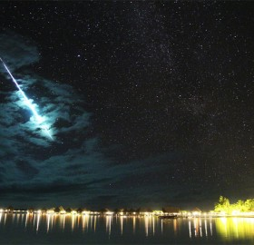 iridium flare over bora bora