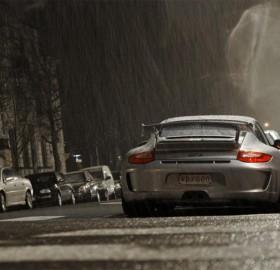 porsche 911 GT3 at rain