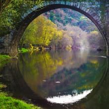 bridge reflection, portugal