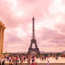 pink sky of paris