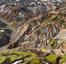 breathtaking aerial landscape of iceland