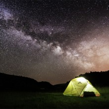 camping in uvac canyon, serbia