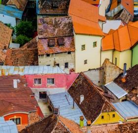 rooftops of sighisoara, romania