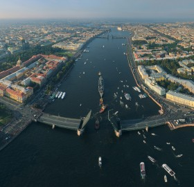 saint petersburg from above